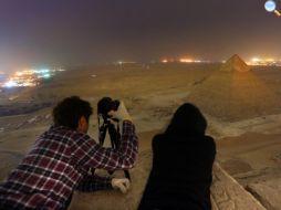 Sulla cima delle piramidi egizie